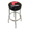 Counter Stool with black seat and logo