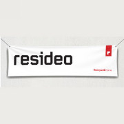 White Banner with Resideo and Honeywell Home Logo